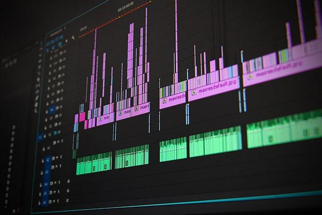 Timeline bei Adobe Premiere